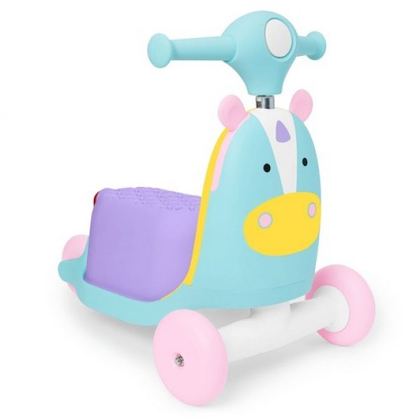 Skip Hop Zoo Indoor Ride-On Scooter Toy – Unicorn