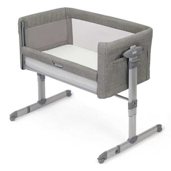 Cribs and Matresses Joie Roomie Glide Bed Side Baby Box Playard – Foggy Grey