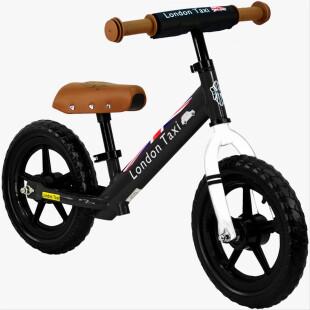 Balance Bike London Taxi Kick Bike – Black