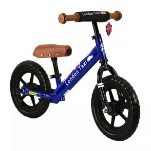 Balance Bike London Taxi Kick Bike – Blue