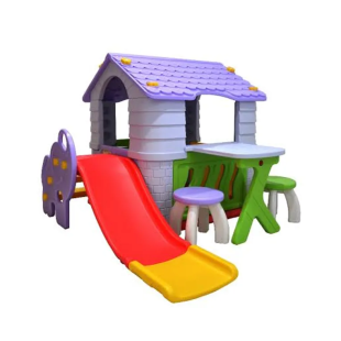 Toys Labeille Dream Playhouse & Slide Luxury Complete Set – Atap Ungu