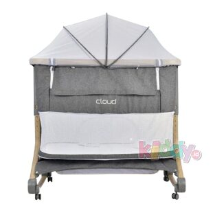 Babyelle Cloud Bedside Crib Box Bayi – Light Grey