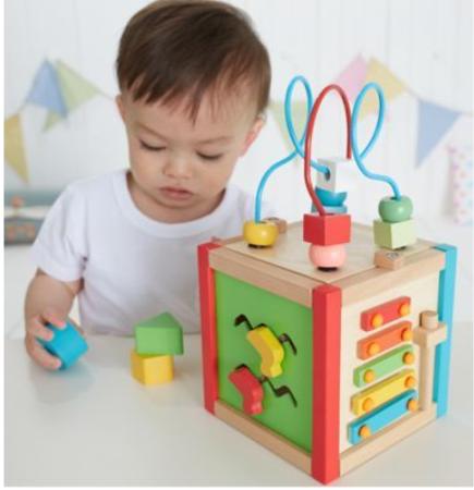 Toys ELC Wooden Activity Cube