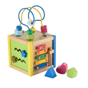 ELC Wooden Activity Cube Small