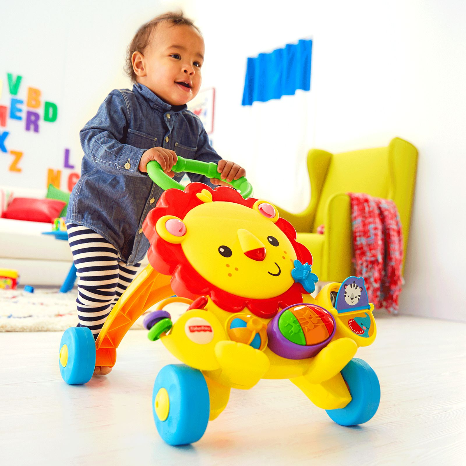 Toys Fisher Price Musical Lion Push Walker