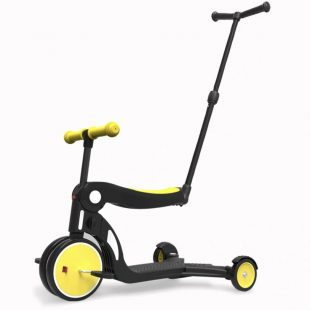 Bebehoo 5 in 1 Kids Scooter With Handle – Yellow