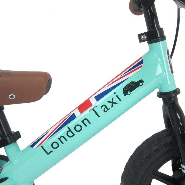Balance Bike London Taxi Kick Bike – Light Green