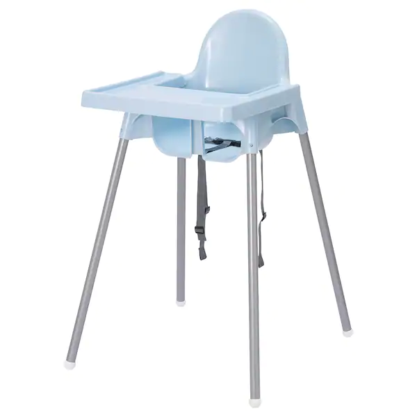 Gear Ikea Antilop Baby High Chair With Tray – Blue (Dengan Sabuk Pengaman)