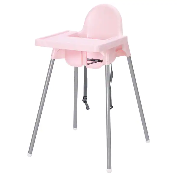 Gear Ikea Antilop Baby High Chair With Tray – Pink (Dengan Sabuk Pengaman)