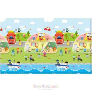 Safety Baby Care PVC Playmat Robot City – Medium