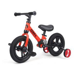 Geko Plus 4in1 Kids Balance Bike 12 inch – Red