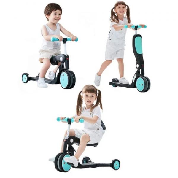 Bebehoo 5 in 1 Kids Scooter With Handle – Red 4