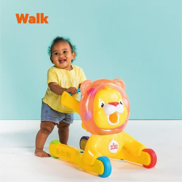 Push Walker Bright Starts Lion 3in1 Step & Ride