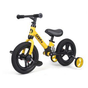 Geko Plus 4in1 Kids Balance Bike 12 inch – Yellow