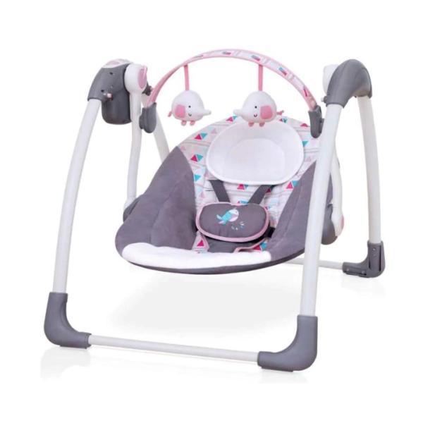 Nursery Cocolatte Weeler Deluxe Portable Swing – Grey Pink