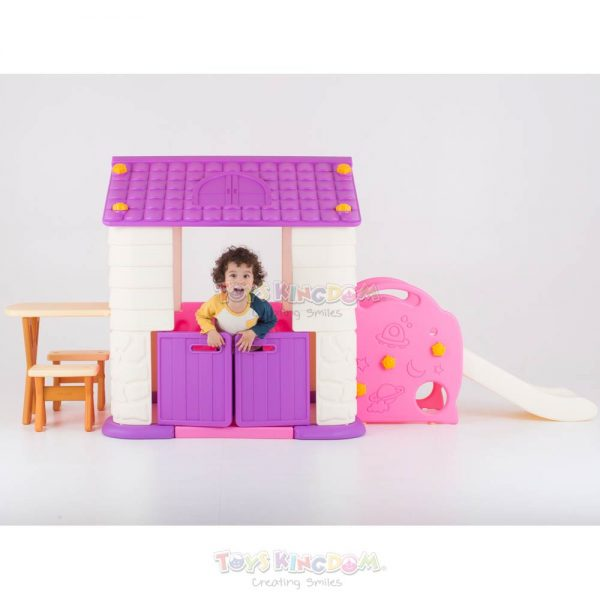 Eduplay Playhouse With Slide Table & Chair Set – Pink 2