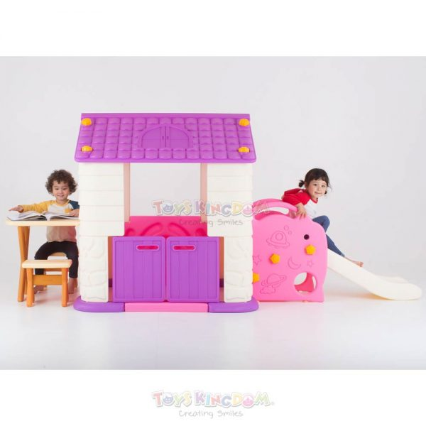 Eduplay Playhouse With Slide Table & Chair Set – Pink 3