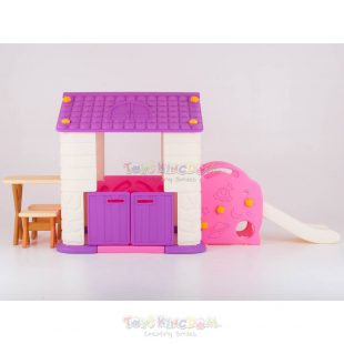 Eduplay Playhouse With Slide Table & Chair Set – Pink