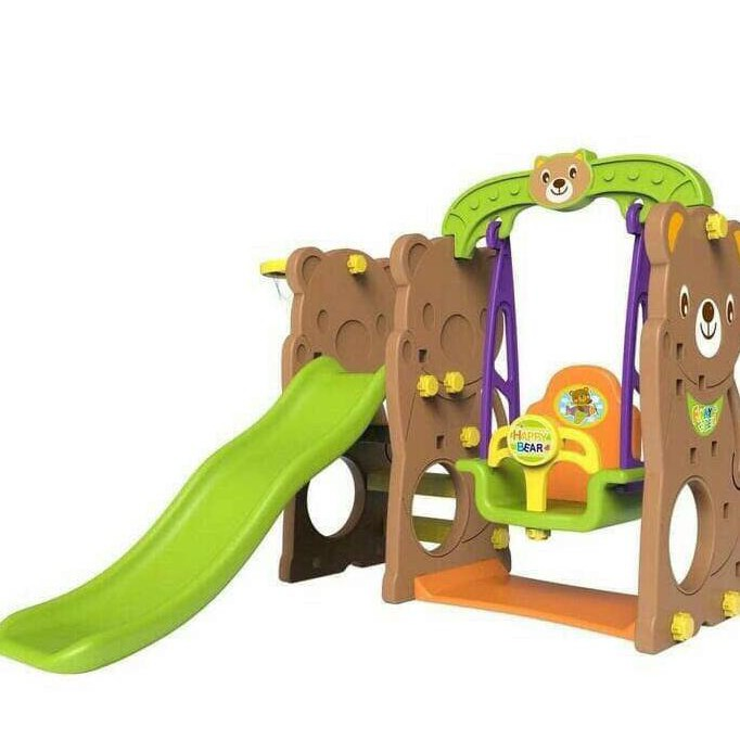 Playhouse & Tents Tobebe Jumbo Bear Slide and Swing