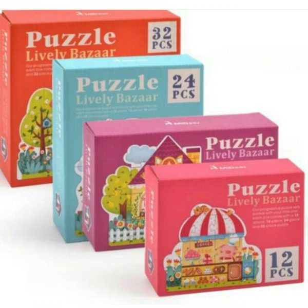 Mideer Advance Level 2 Puzzle – Lively Bazaar (4 box) 2