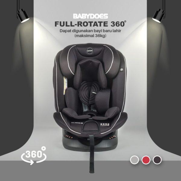Babydoes Full Rotate 360 Isofix Carseat – Black 2