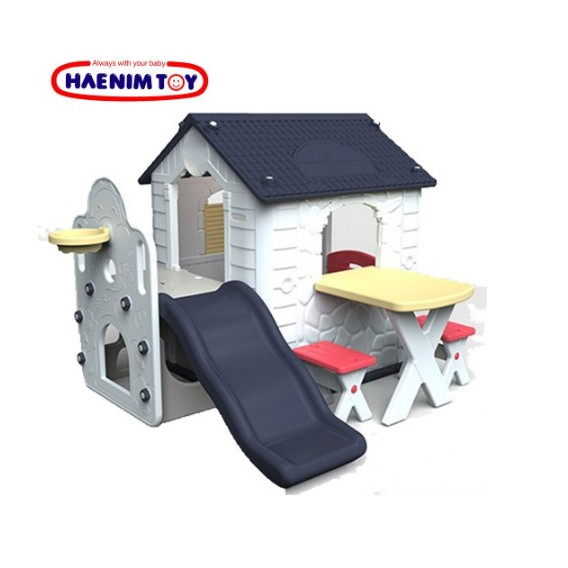 Toys Haenim Fun Park Playhouse & Slide – Navy