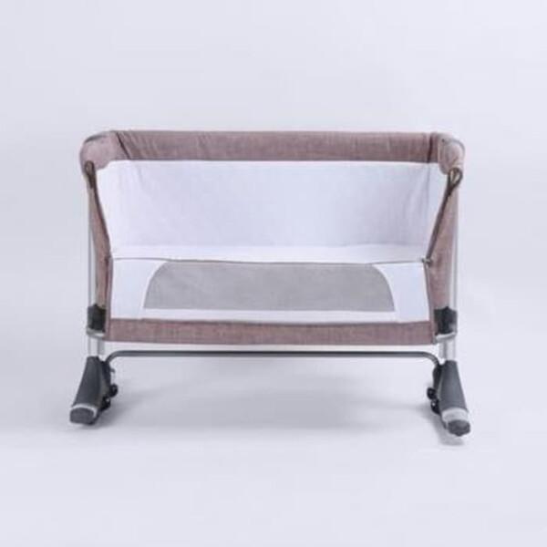 BabyDoes CH-165-BP Mini Comfi Side Bed Baby Box – Khaki 5