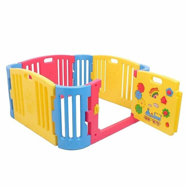Play Fences Labeille Play Yard Fence with Door Small Size – Primary Color