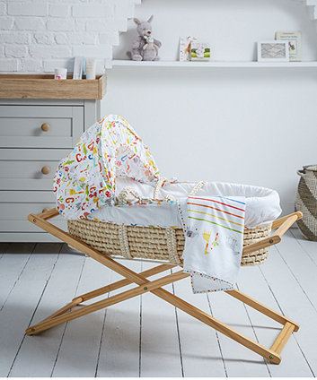 Nursery Mothercare Folding Moses Basket Stand