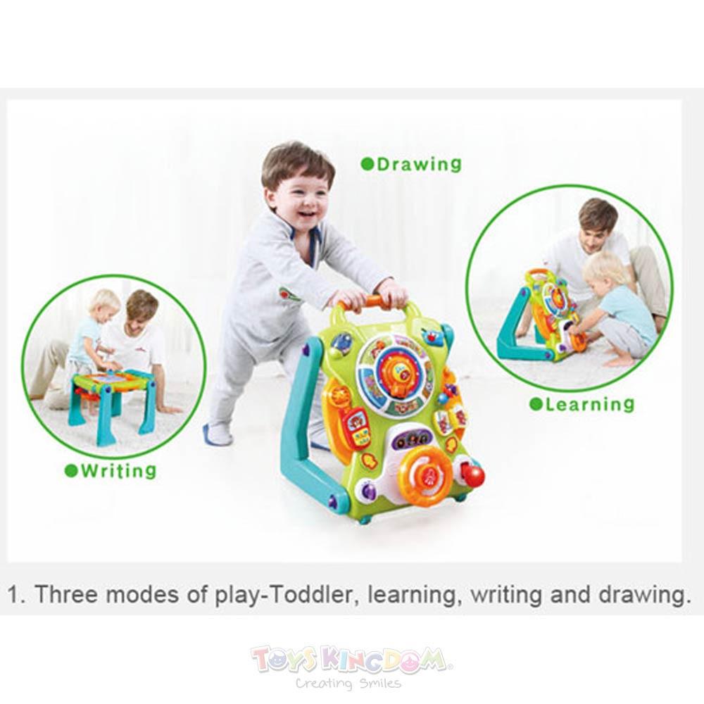 Toys Hola Little Giggles Convertible Baby Activity Table Walker – DISKON (tidak ada mainan utk menulis)