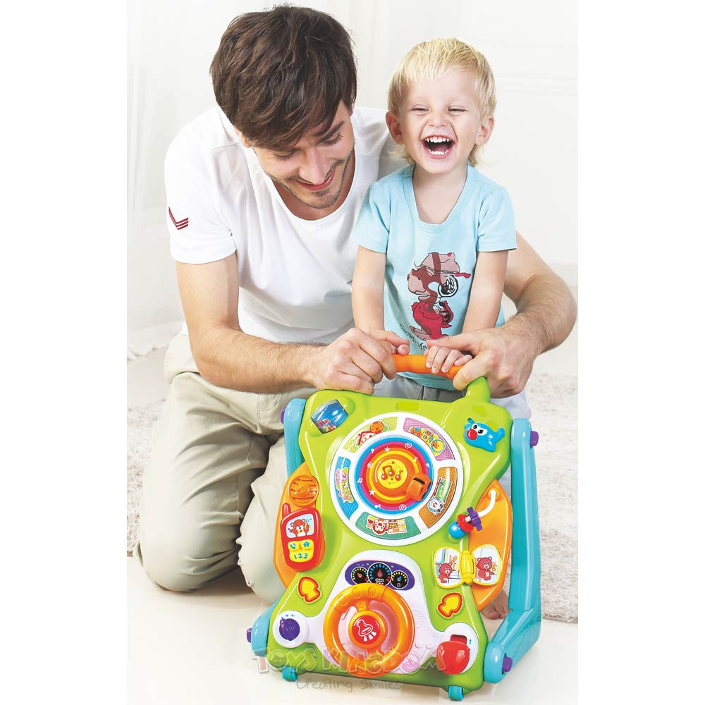 Toys Hola Little Giggles Convertible Baby Activity Table Walker