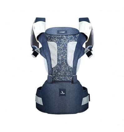 Carrier i-Angel Magic 7 Folding Hipseat Baby Carrier – Denim Star