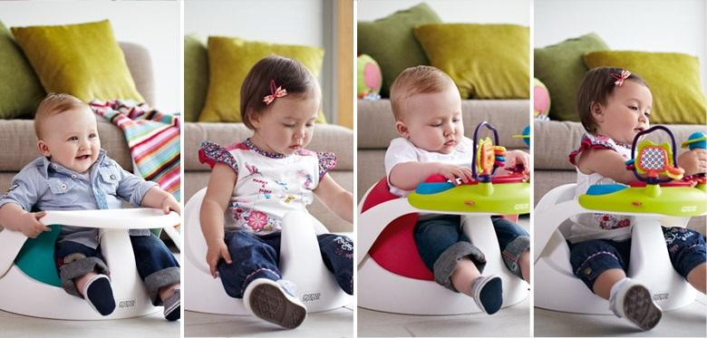 Booster & High Chair Mamas Papas Baby Snug with Play Tray – Grey