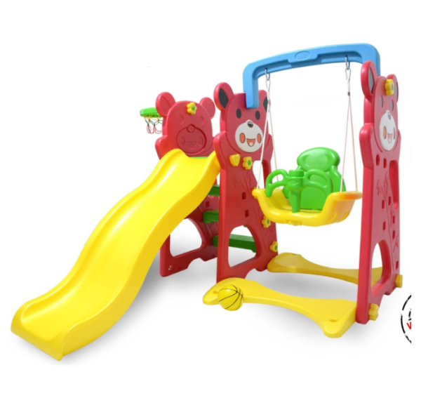 Toys Labeille Panda 3 in 1 Slide and Swing – Red