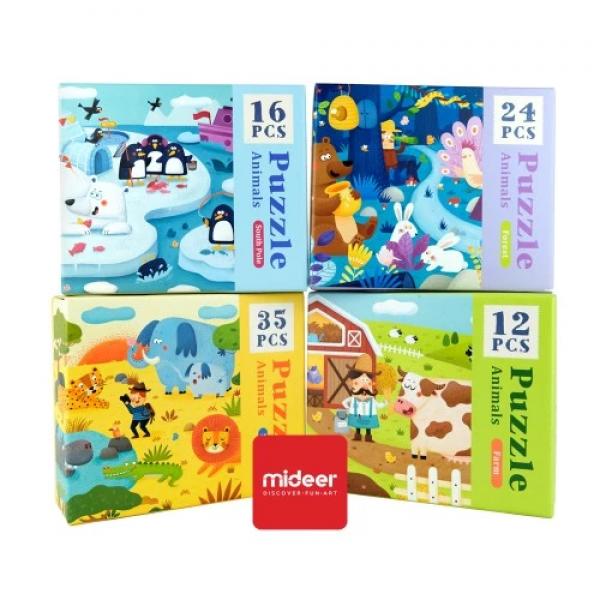Mideer Advance Level 2 Puzzle – Animals (4 box)