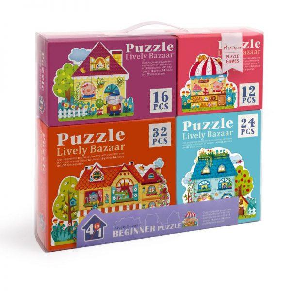 Mideer Advance Level 2 Puzzle – Lively Bazaar (4 box)