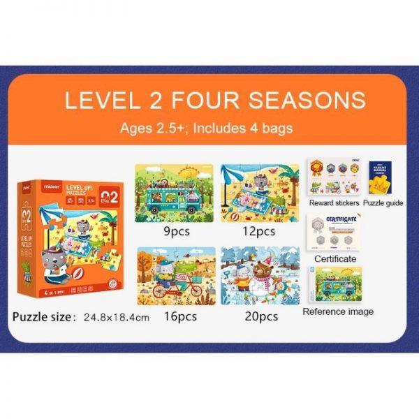 Mideer Advance Level 2 Puzzle – Season (4 box) 4
