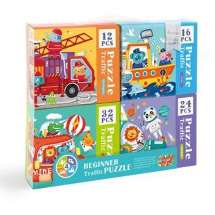 Mideer Advance Level 2 Puzzle – Traffic (4 box)