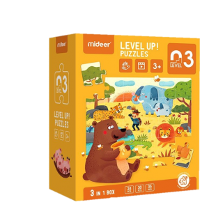 Mideer Advance Level 3 Puzzle – Scenery (3 Pouch)