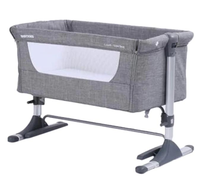Nursery BabyDoes CH-165-BP Mini Comfi Side Bed – Grey