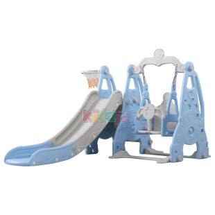 Bingo Clown 3in1 Slide Swing and Basket – Blue