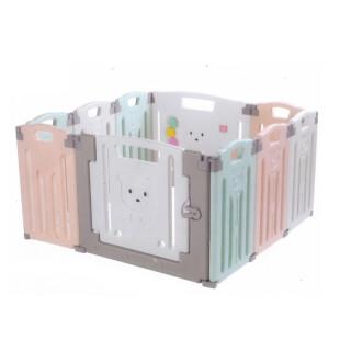 Safety Parklon Folding Fence Pagar Pengaman Bayi 8+2 – Mixed Color