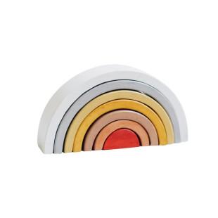 Letterinpine Wooden Rainbow Stacker Medium 7 Susun – Crimson