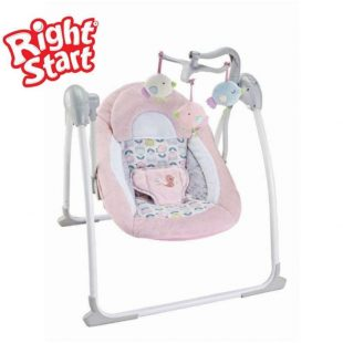 Right Start Deluxe Portable Swing – Pink