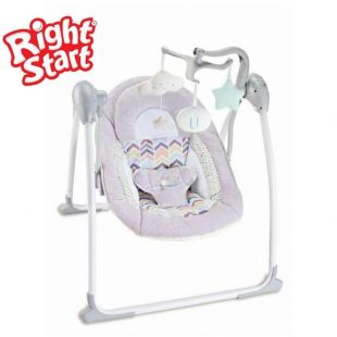 Right Start Deluxe Portable Swing – Grey