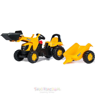 Rolly Toys Tractor With Front Loader & Trailer Ride On – JCB