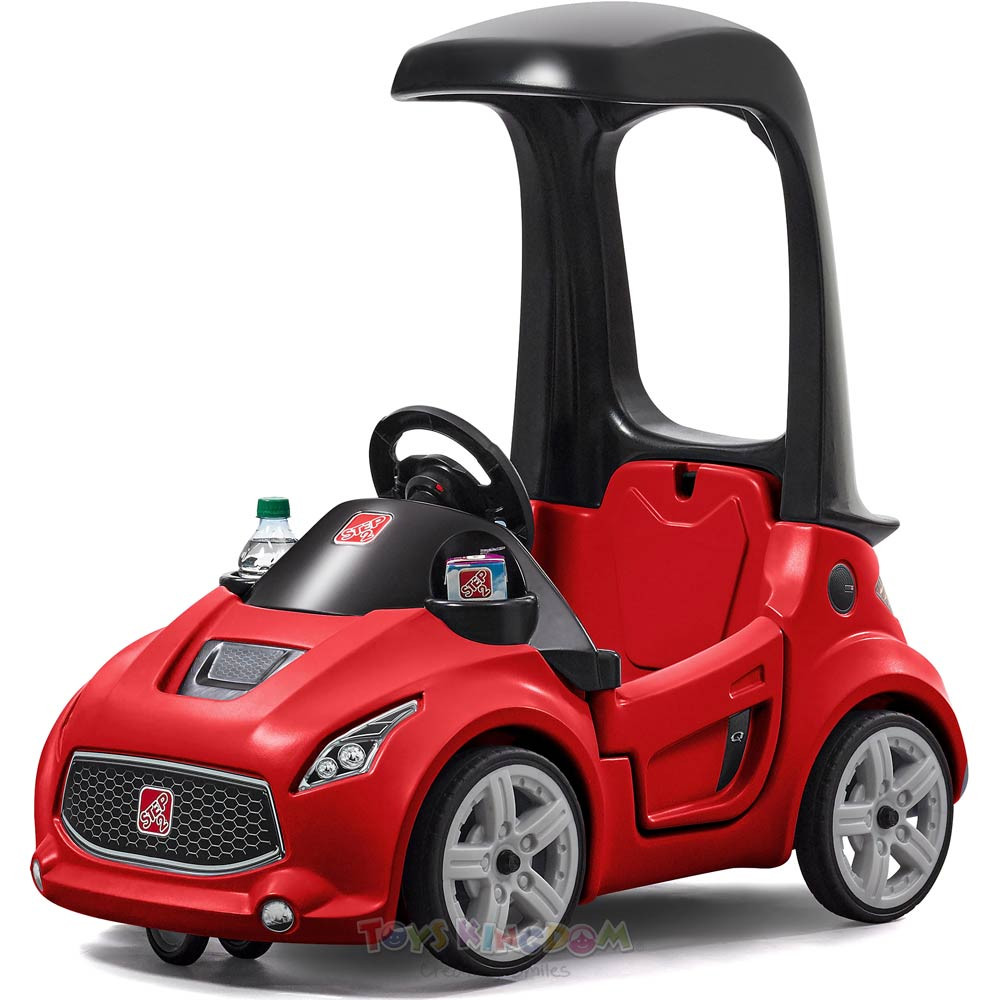 Toys Step2 Turbo Coupe Foot-To-Floor Ride-On Car – Red