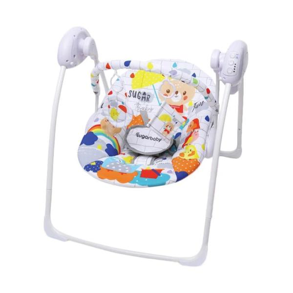 Nursery Sugar Baby Gold Edition Premium Swing Bouncer – White