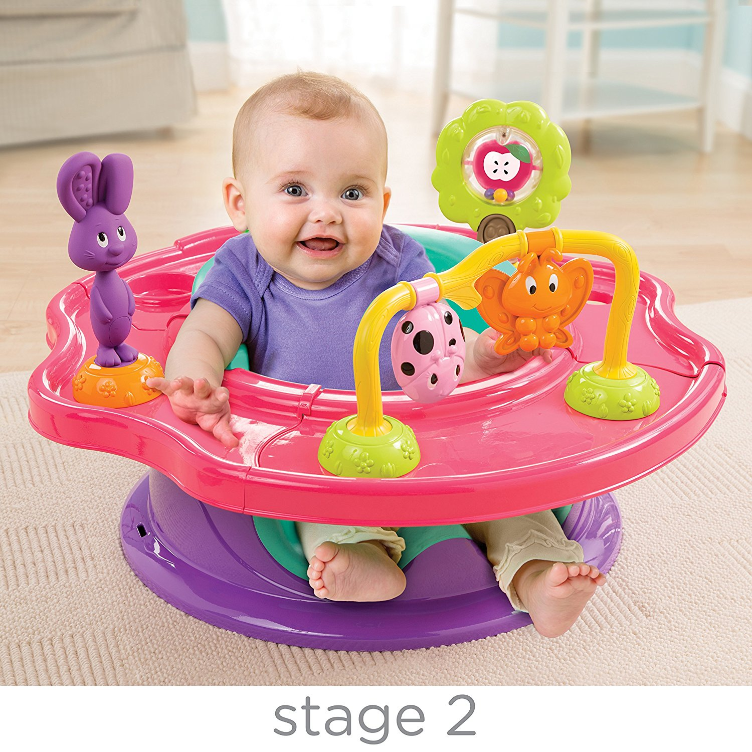 Booster & High Chair Summer 3 Stage Super Seat Forest Friend – Pink