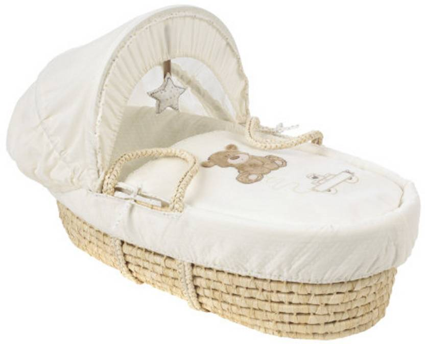 Nursery Mothercare Teddy's Toy Box Moses Basket
